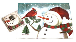 Holiday Christmas Theme Cleaning Cloth Snowman-Robin
