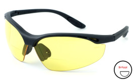 Calabria 91348 Bi-Focal Safety Glasses UV Protection in Yellow