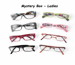6 Pack Mystery Box Reading Glassses, Ladies Styles