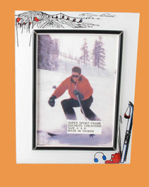Speert Sports Photo Frame Skiing Theme (Vertical)