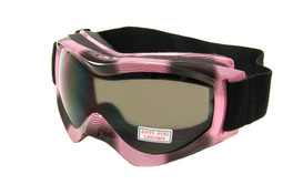 Large Ski Goggles w/ Anti-Fog lenses & Head Strap in Pink G30SD