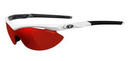 Tifosi High Performance Sunglasses Slip in White-Gunmetal with 3 Lens Set