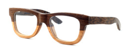 "Specs of Wood Designer Wooden Eyewear Made in the USA ""Peanut Butter"" in Oreo Light Dark Woods (Dark Light Brown)"