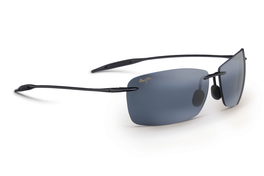 Maui Jim LIGHTHOUSE Gloss Black & Neutral Grey Polarized Sunglasses