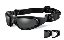 Wiley X SG-1 Tactical Safety Goggles in Black with Smoke & Clear Lens