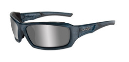 Wiley X WX Echo Climate Control in Smoke Steel Blue w/  Silver Flash Lens