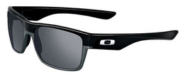 Oakley Designer Sunglasses Two Face OO9189-02 in Black & Black Iridium Lens