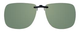 Montana Eyewear Clip-On Sunglasses C11A in Polarized G15 Green 62mm