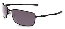Oakley Designer Polarized Sunglasses Square Wire OO4075-09 in Matte-Black & Prizm Daily Lens