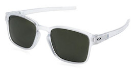 Oakley Designer Sunglasses Latch SQ OO9353-07  in Matte-Clear & Dark Grey Lens
