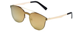 Trendies By Calabria The Kristen, Flat Fashion Sunglasses with Mirrored Lens