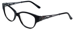 Judith Leiber Designer Reading Glasses JL3010-01 in Onyx 52mm