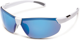 VIP Suncloud Switchback Polarized Sunglasses, White & Blue Mirror Lens