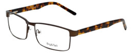 Big and Tall Designer Eyeglasses Big-And-Tall-15-Matte-Brown in Matte Brown 60mm :: Rx Single Vision