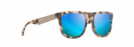 Maui Jim Talk Story in Matte Tortoise & Blue Hawaii Polarized Sunglasses