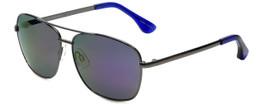 VIP Isaac Mizrahi Designer Sunglasses Aviator in Gunmetal with Purple Mirror