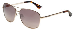 VIP Isaac Mizrahi Designer Sunglasses Aviator in Gold with Rose Gradient