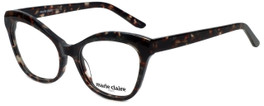 Marie Claire Designer Reading Glasses MC6234-BLK in Black Grey Marble 53mm