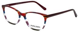 Marie Claire Designer Reading Glasses MC6246-BST in Bordeaux Stripe 53mm