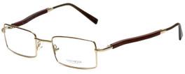 Gold & Wood Designer Eyeglasses 410.6-A6 in Gold 47mm :: Rx Single Vision