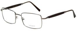 Gold & Wood Designer Eyeglasses 411.5-114 in Gunmetal 55mm :: Rx Single Vision
