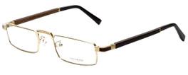 Gold & Wood Designer Eyeglasses Centaur-01 in Gold 52mm :: Rx Single Vision