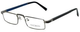 Gold & Wood Designer Eyeglasses Centaur-03 in Gunmetal 52mm :: Rx Single Vision