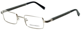 Gold & Wood Designer Eyeglasses Matar-02 in Silver Wood 48mm :: Rx Single Vision