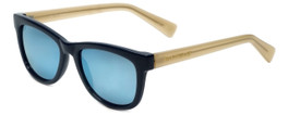 Isaac Mizrahi Designer Sunglasses IM11-91 in Navy Ivory with Blue Mirror Lens