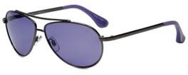 Isaac Mizrahi Designer Sunglasses IM16-30 in Gunmetal with Purple Lens
