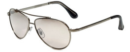 Isaac Mizrahi Designer Sunglasses IM16-49 in Silver with Silver Mirror Lens