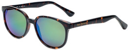 Isaac Mizrahi Designer Sunglasses IM44-20 in Dark Tortoise with Green Mirror Lens