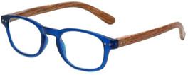 VIP M Readers Designer Reading Glasses 102-MBLUE in Matte Blue Wood 46mm