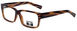Gotham Style Designer Reading Glasses GS204-BRNS in Brown Stripe 56mm