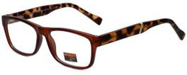 Gotham Style Designer Reading Glasses GSF29-MBRN in Matte Brown 53mm