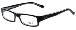Ray-Ban Designer Reading Glasses RB5246-2034-48 in Black Transparent 48mm