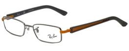 Ray-Ban Designer Reading Glasses RB6217-2620 in Silver Grey Orange 48mm