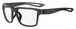 Nike Designer Eyeglasses Fleet-060 in Matte Anthracite 55mm :: Custom Left & Right Lens