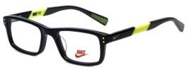 Nike Designer Reading Glasses 5537-001 in Black Volt 44mm Kids Size