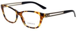 Versace Designer Eyeglasses 3220-5119-52 in Havana 52mm :: Rx Bi-Focal