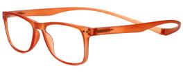 Magz Designer Eyeglasses Astoria in Orange 50mm :: Custom Left & Right Lens