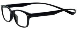 Magz Designer Eyeglasses Greenwich in Black 50mm :: Custom Left & Right Lens