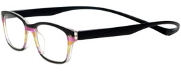 Magz Designer Eyeglasses Greenwich in Multi Black 50mm :: Custom Left & Right Lens