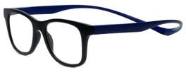 Magz Designer Eyeglasses Chelsea in Black Blue 50mm :: Rx Bi-Focal