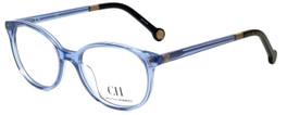 Carolina Herrera Designer Reading Glasses VHE612-095A in Blue 49mm