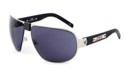 Sports Charriol Swiss Stainless Steel Designer Sunglasses in Black & Silver Frame & Grey Lens (24001-C3)