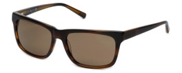 Kenneth Cole Designer Sunglasses KC7021-50E in Brown-Stripe Frame with Amber Lens
