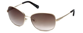 Kenneth Cole Designer Sunglasses KC7028-32F in Gold Frame with Brown Gradient Lens