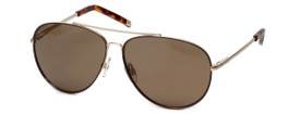 Kenneth Cole Designer Sunglasses KC7043-33E in Gold Frame with Brown Lens