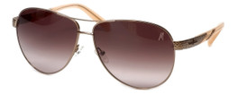 Guess 'Marciano'  Designer Sunglasses Series GM697 in Gold Frame with Brown Gradient Carl Zeiss Lens